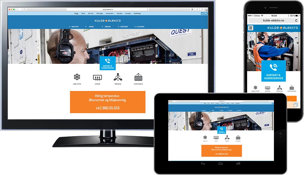Responsive nettsider for Kulde & Elektro