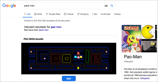 Google pack man
