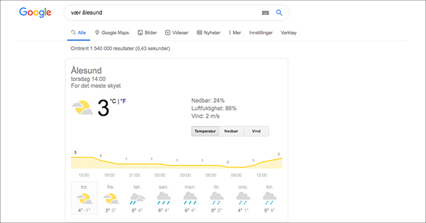 Google vær