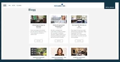 Over 70 bloggartikler levert til VestlandsHus